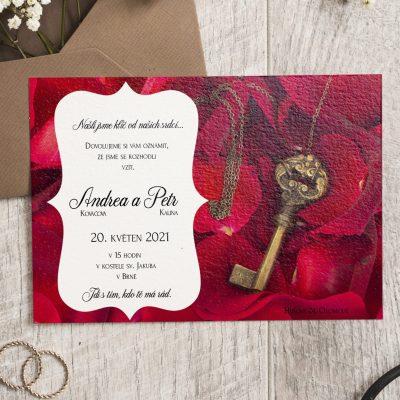 romanticke svatebni oznameni
