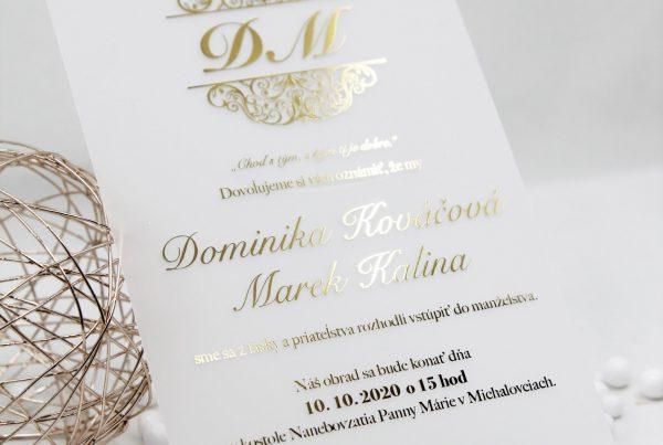 luxusni svatebni oznameni