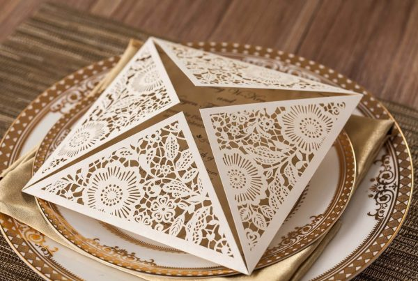 Luxusní Laser GOLD svatební oznámení