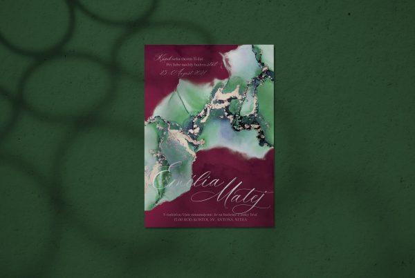 Luxusní svatební oznámení Green River