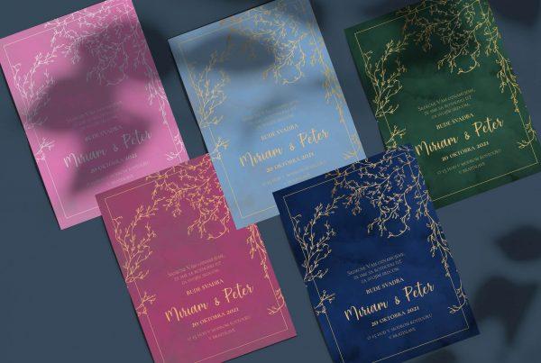Luxusní svatební oznámení ColorPassion Variant