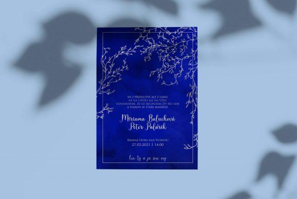 Luxusní svatební oznámení ColorPassion Ice Blue