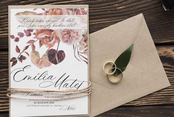 Půvabné svatební oznámení Scarlet