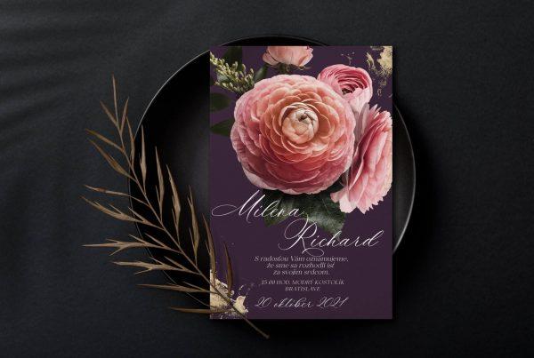 Luxusní svatební oznámení Velveteen Great